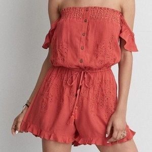 American Eagle Off the Shoulder Romper